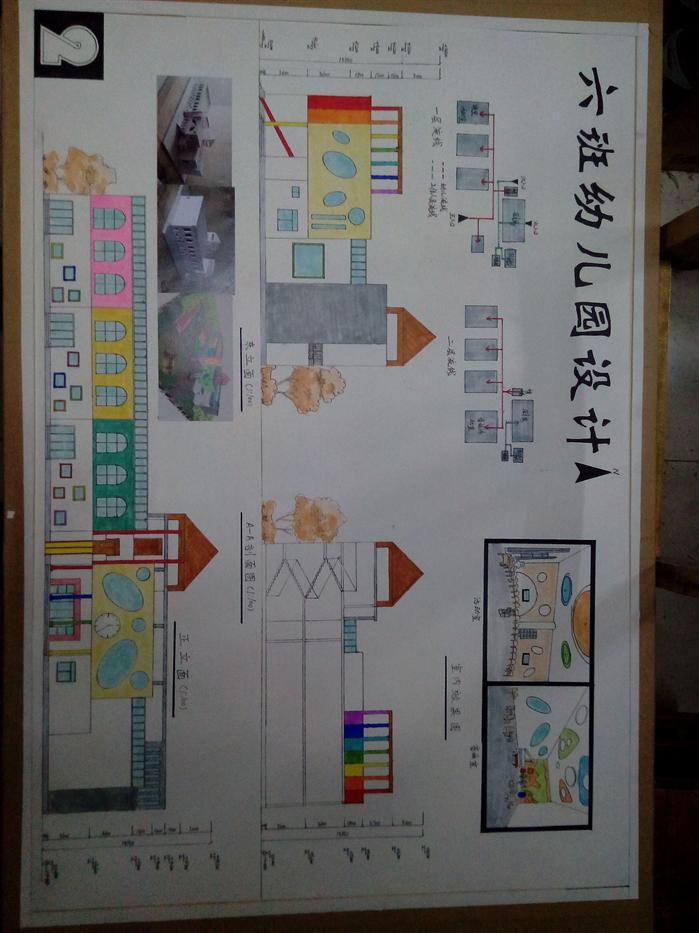某现代幼儿园建筑手绘设计方案(1)