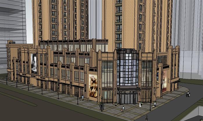 某新古典风格高层住宅建筑设计su模型