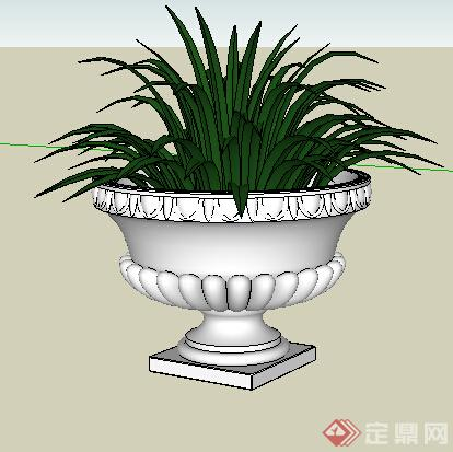 园林景观之欧式花钵设计方案su模型