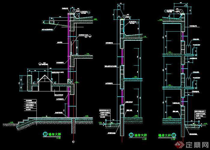 某居住小区建筑楼层平面布置图 墙面施工方案