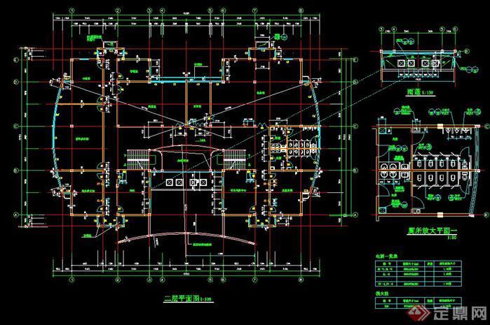 某居住小区建筑楼层平面布置图+墙面施工方案