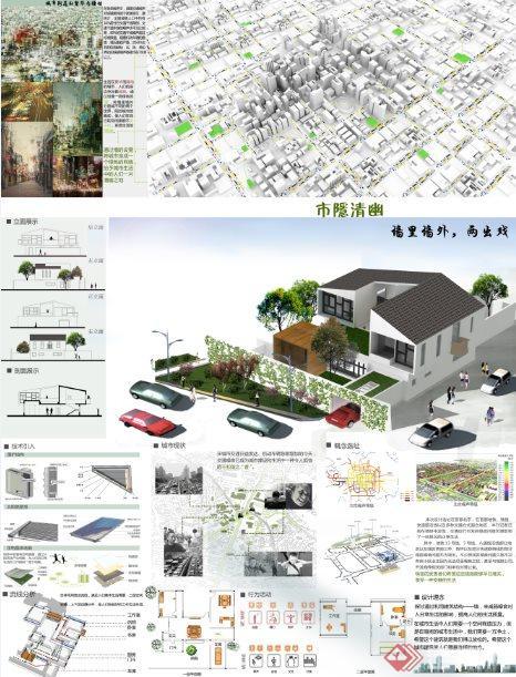 市隐清幽---别墅设计方案展板[原创]