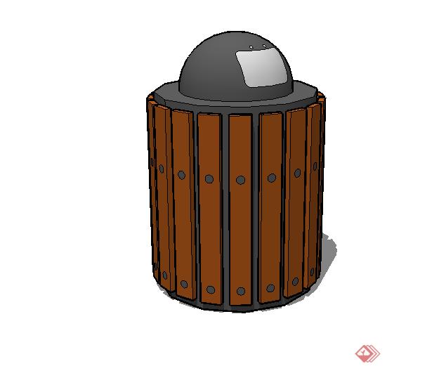 某现代风格垃圾桶设计su模型