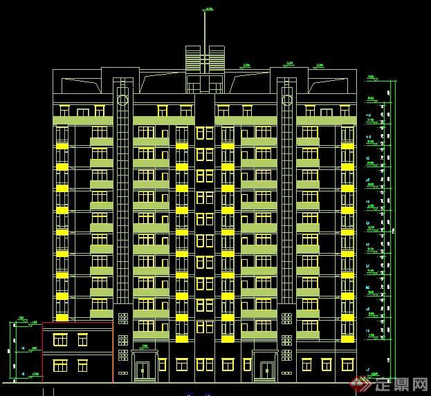 某小高层住宅楼建筑设计方案平面图