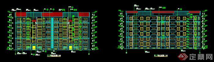 某复式居民住宅楼建筑设计施工图方案(dwg格式)