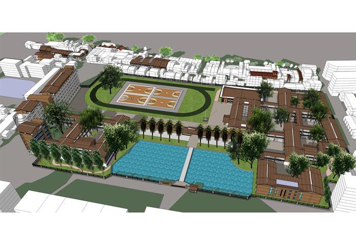 某新古典学校建筑设计方案su模型