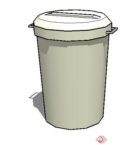 设计素材之垃圾桶是方案su模型