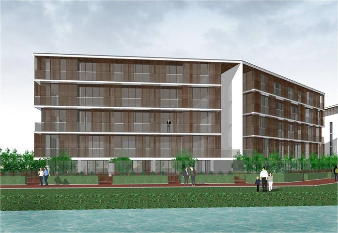 某小区现代住宅楼建筑设计效果图方案 JPG格式