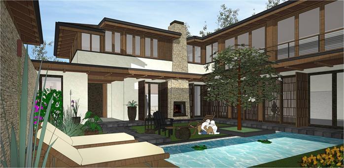 某小区现代住宅楼建筑设计效果图方案 jpg格式 3