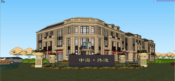 某新古典商业会所建筑设计su模型