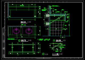 室内装饰之讲台、黑板级洗手台设计施工图方案(dwg格式 )