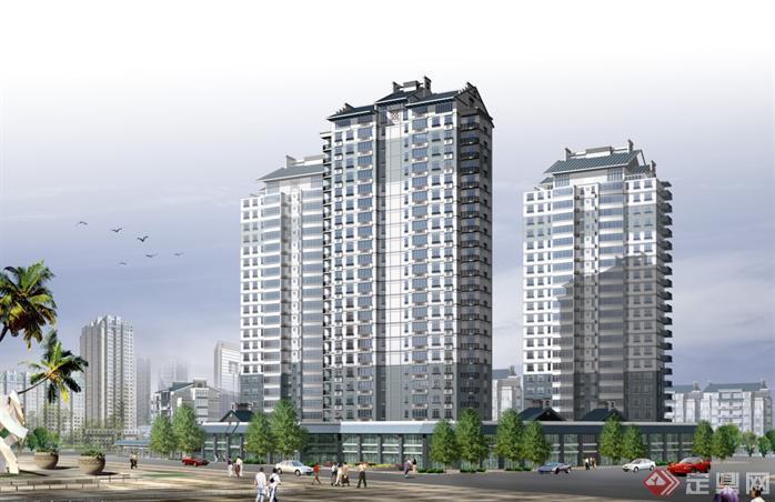 某花园综合住宅区建筑总体规划设计方案