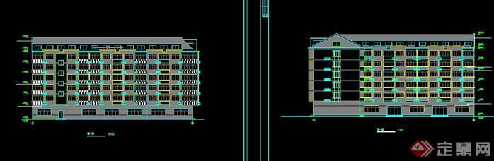 某现代风格多层宿舍建筑设计扩初方案