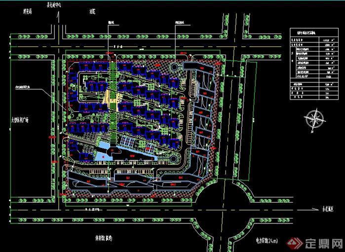 底层架空安置住宅小区规划平面图