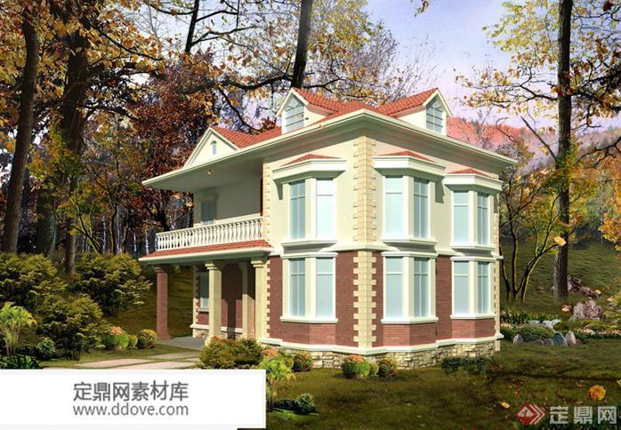 某现代风格农村自建别墅建筑详细设计方案 别墅cad