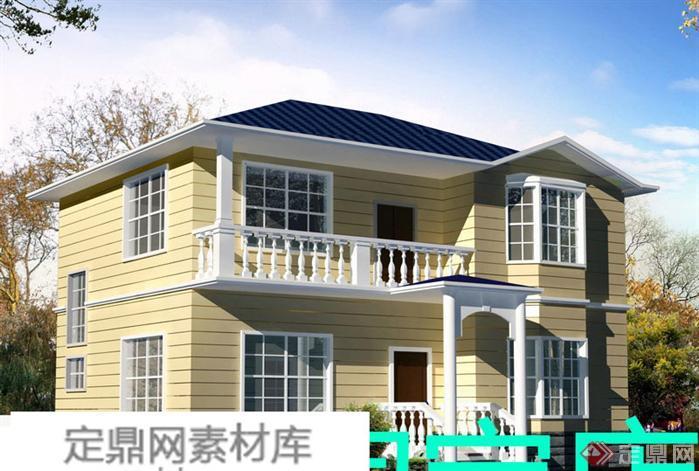 某现代风格农村自建别墅建筑详细设计方案(3)