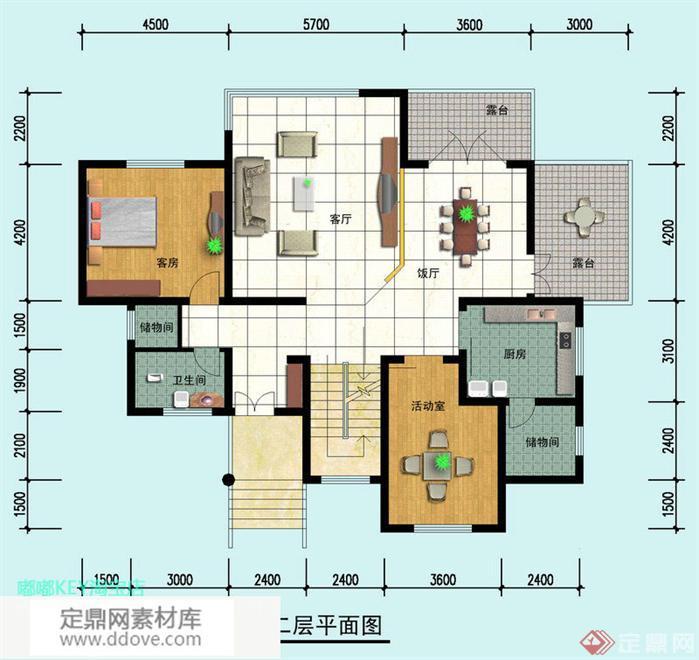 某新农村自建多层别墅建筑设计方案平面图