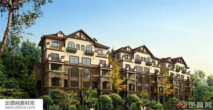 多层联排别墅建筑设计方案