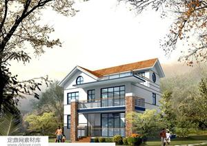 别墅建筑设计方案图,内容含有住宅多个方向立剖面图,屋顶以及各个不同图片