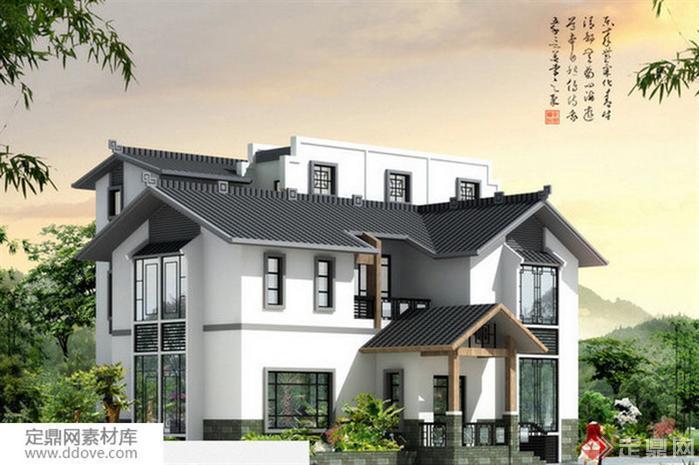 某新农村自建房多层别墅建筑设计方案图