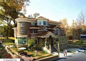 某新方向自建农村内容建筑设计多层,剖面含有方案农村别墅立多个住宅设计图万别墅15图片