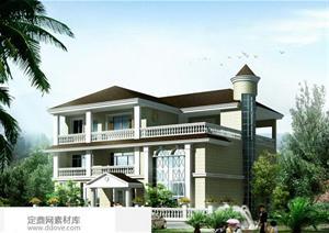 某新农村自建3层别墅建筑设计方案25图片