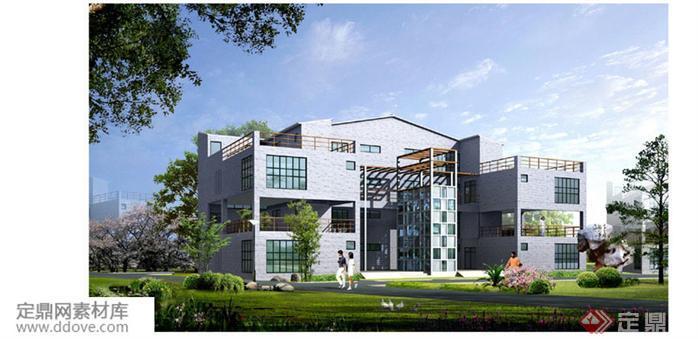 某现代风格农村自建别墅建筑详细设计方案(10)