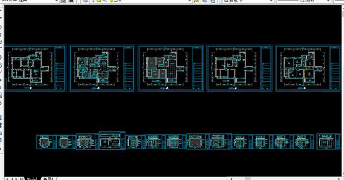 某简欧风格住宅室内装修CAD全套施工图 全房SU精细模型