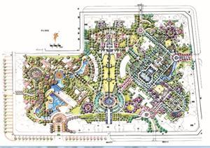 某现代住宅小区景观规划设计手绘图方案(JPG格式)-手绘居住区住