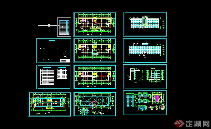 某现代风格工业工厂建筑方案设计cad图纸 3
