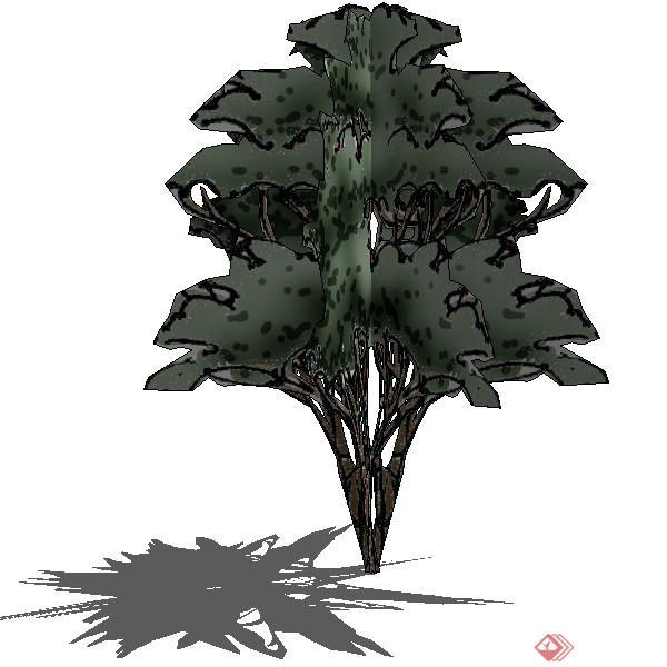 设计素材之景观植物乔木设计素材su模型69