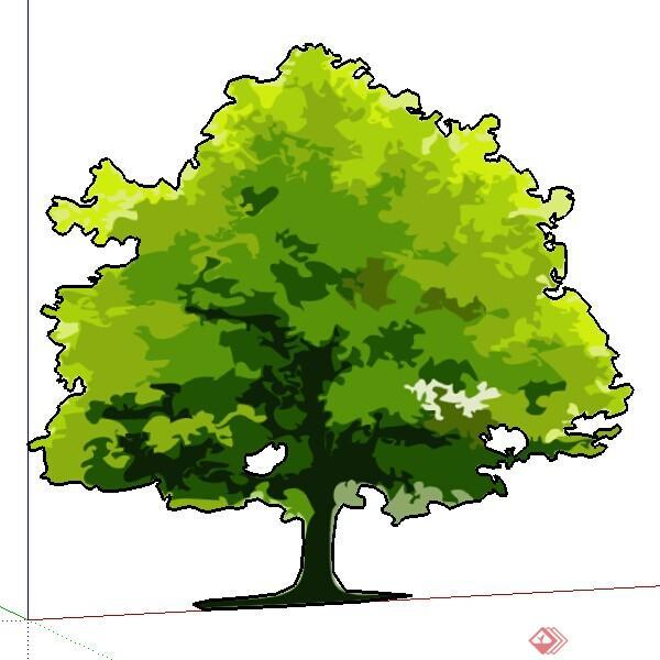 设计素材之景观植物手绘树设计素材su模型