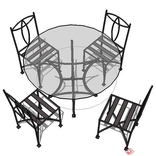 设计素材之家具 桌椅组合设计素材su模型