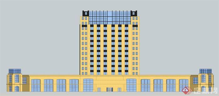某现代风格高层宾馆建筑设计方案