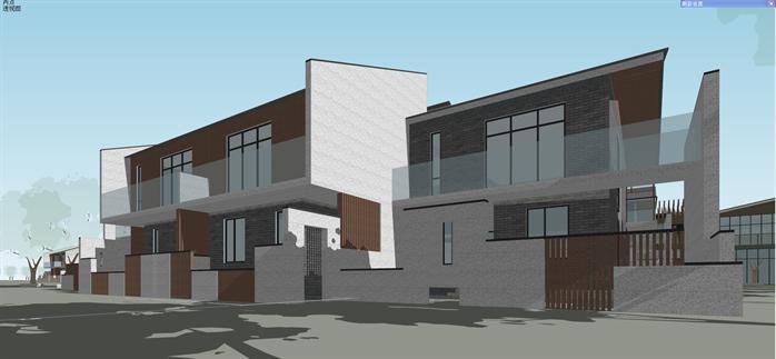 某新中式售楼处和住宅别墅建筑设计su模型[原创]