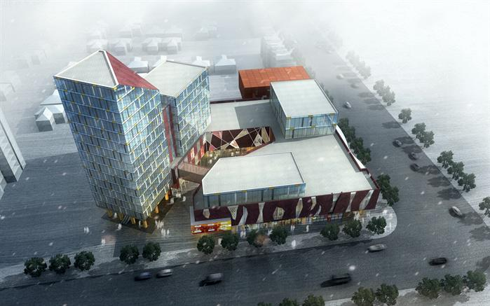 某商业综合体建筑设计su模型1