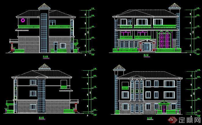 住宅楼顶总平面图