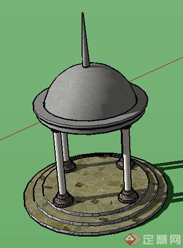 园林景观之欧式景亭设计方案su模型