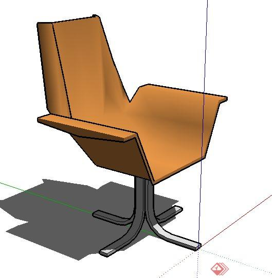 一个现代风格座椅su模型素材