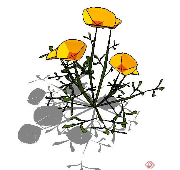 设计素材之景观植物花卉设计方案su模型