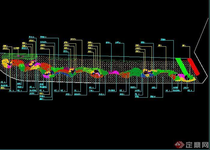 某原创花境景观设计圆管图[绘制]方案管道游园示意图图片