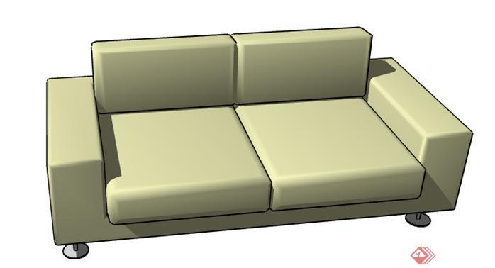 一个沙发设计的su模型