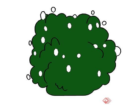 一灌木丛景观植物设计su模型