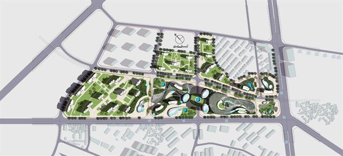 合肥市某现代风格商业综合体建筑总体规划设计ppt文本方案(2)江苏省建筑设计v风格规范图片