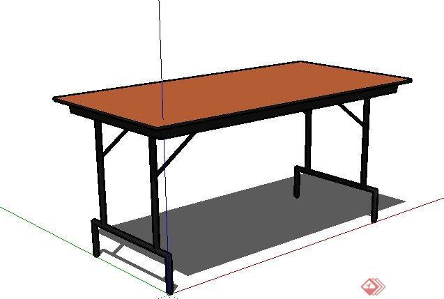 一个现代风格桌子su模型素材(3)(1)