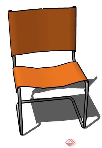 一个塑料椅子设计的su模型