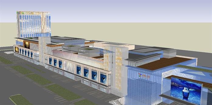 某商业购物广场建筑设计su模型4