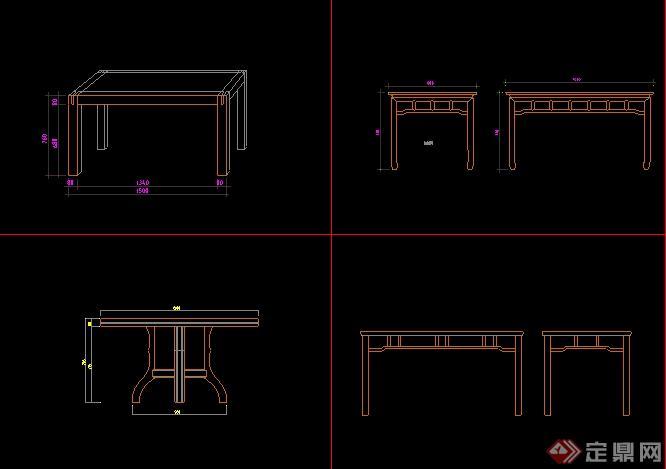 柜子,床设计的cad立面图-设计师图库
