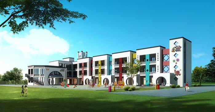 某现代风格幼儿园建筑su设计模型[原创]