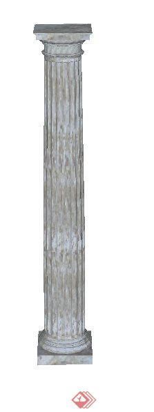 多个欧式柱子构件设计su模型